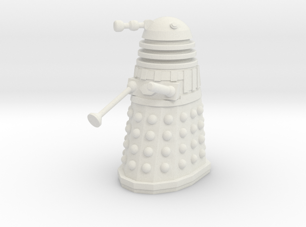 Imperial Dalek - Pose 2 in White Strong & Flexible