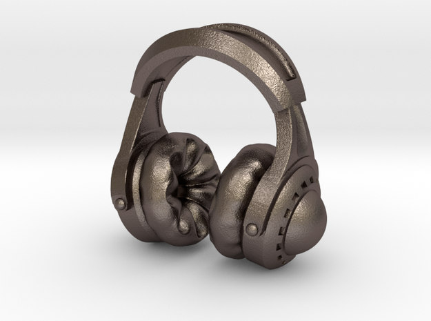 Pocket full headphones - (One version) in Polished Bronzed Silver Steel