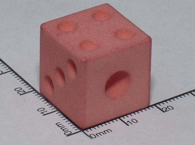 PI numbered D6 3d printed WSF died red at home