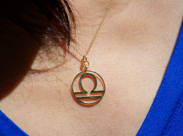 Libra Pendant in 18k Gold Plated Brass