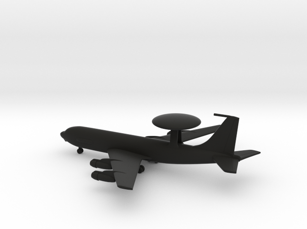 Boeing E-3 Sentry in Black Natural Versatile Plastic: 1:500