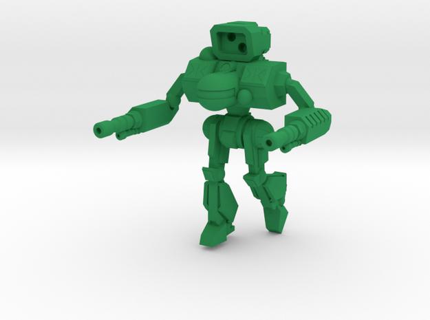 Black Fang Combat Walker -  6mm in Green Strong & Flexible Polished