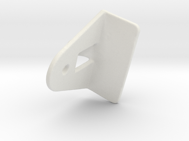 Shade Cord Lock 741 Pulley in White Natural Versatile Plastic