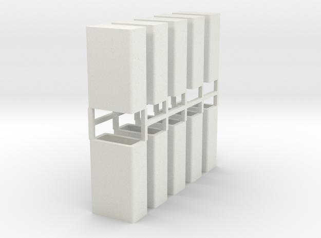 Stahlbrammen stehend 10er Set - 1:120 in White Natural Versatile Plastic