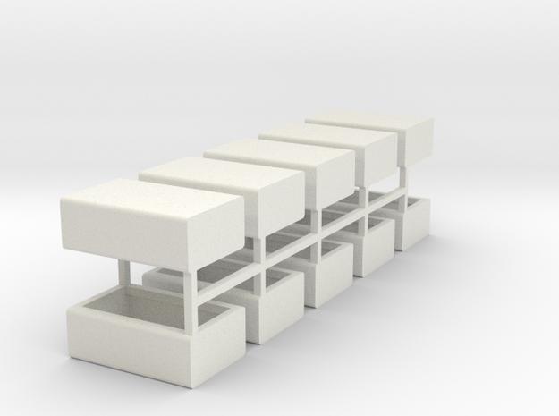 Stahlbrammen liegend 10er Set - 1:120 in White Natural Versatile Plastic
