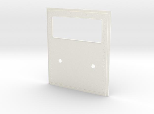 King Hauler Daycab Panel, Large Window, 2 Lights in White Processed Versatile Plastic