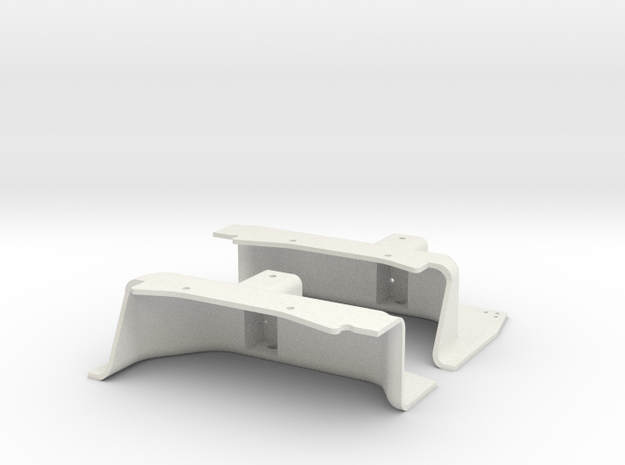 TH001 - Toyota Hilux Front Inner Fender in White Natural Versatile Plastic