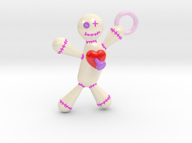 Voodoo Doll pendant in Glossy Full Color Sandstone