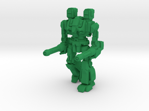 Maul Type Combat Walker - 6mm in Green Strong & Flexible Polished