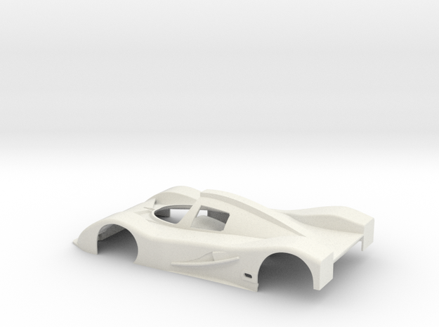 1:24 SLOT CAR BODY ALFA ROMEO SE048 GROUPC NO WING in White Natural Versatile Plastic