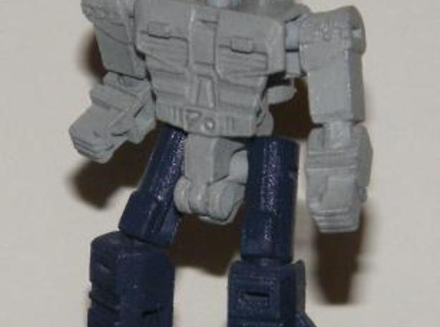 """Dustup"" Gunslinger figure 3d printed Robot mode, front view 2"