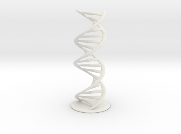 DNA schematic 45cm in White Natural Versatile Plastic