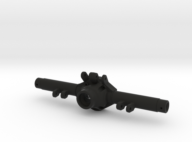 TMX Offroad Axle - Rear Jeep Skeleton in Black Natural Versatile Plastic