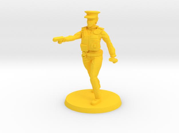 Officer Bobbi pose 2 in Yellow Processed Versatile Plastic