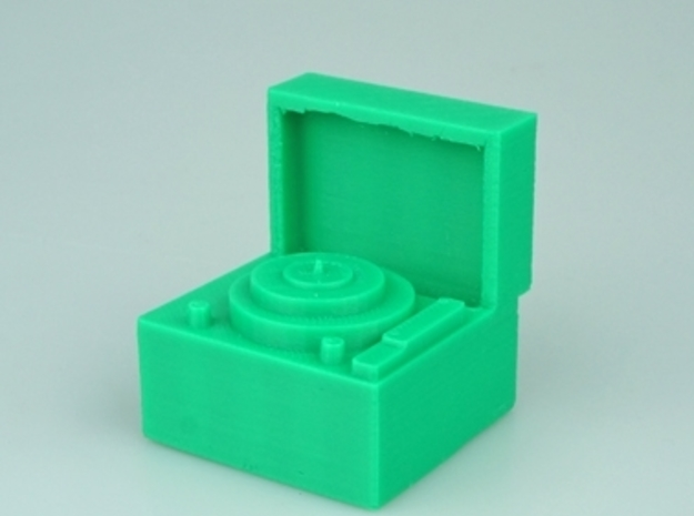 3d Printer printing Record Player  3d printed picture of record player