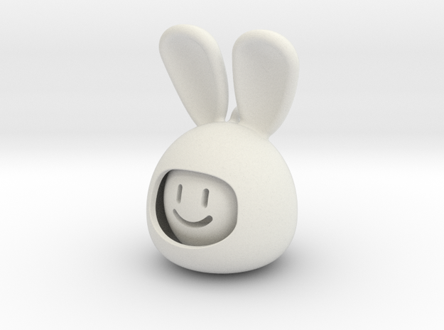 emoji RABBIT  in White Natural Versatile Plastic