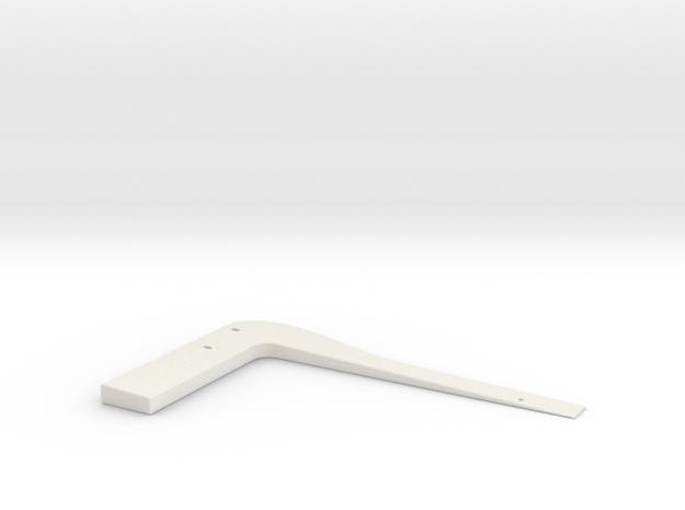 Wedgie 1 in White Natural Versatile Plastic
