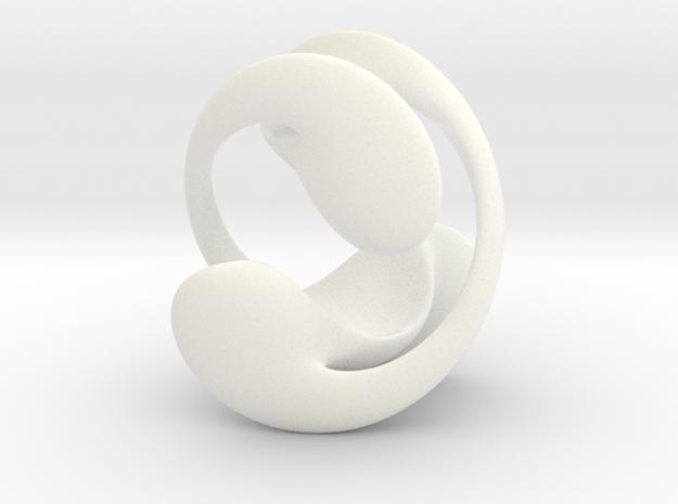 Telomere Sphere 1 in White Processed Versatile Plastic