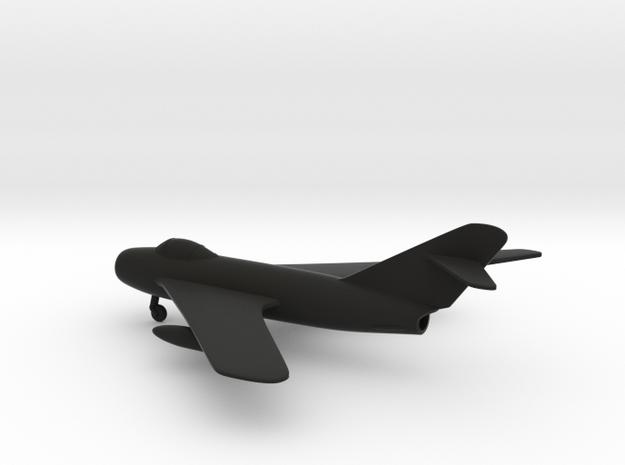 MiG-17 Fresco in Black Natural Versatile Plastic: 1:160 - N