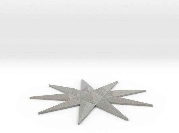 Nine-pointed Star Brooch