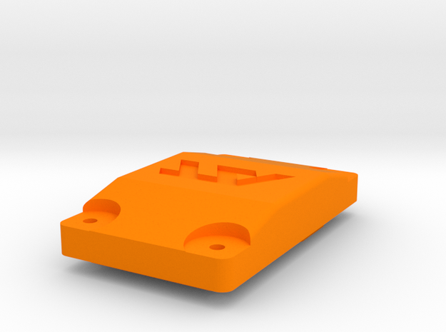 Wurfradgehaeuse Getriebedeckel in Orange Processed Versatile Plastic