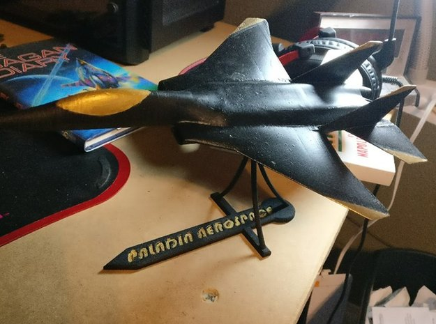 Custom Miniature Model Stand in Black Strong & Flexible