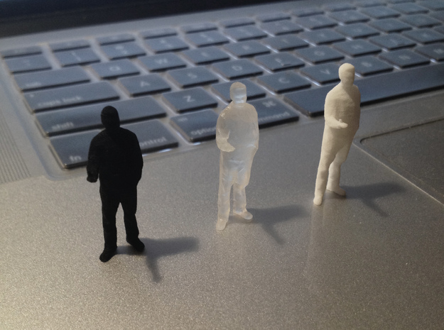 Architectural Man - 1:50 - Presenting  3d printed Black Strong & Flex, Frosted Ultra Detail, White Strong & Flex