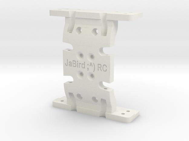 JaBird RC LCG Skid Plates ~ SCX10 Chassis Conversi in White Natural Versatile Plastic