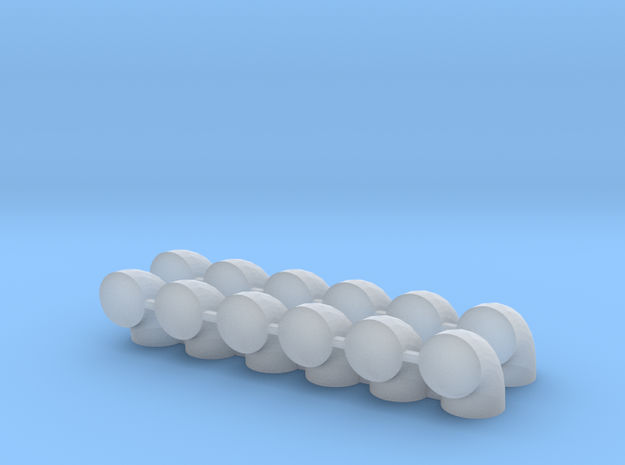 "'N Scale' - (12) - 30"" Diameter Elbows  in Smooth Fine Detail Plastic"