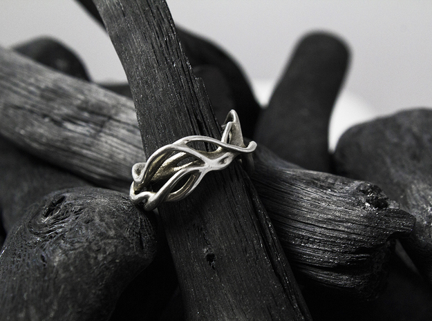 Intstnl_Band in Rhodium Plated: 6 / 51.5