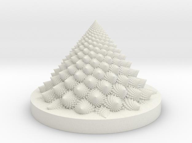 Romanesco fractal Bloom zoetrope in White Natural Versatile Plastic: Medium