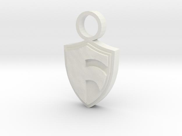 Shield of Faith in White Natural Versatile Plastic