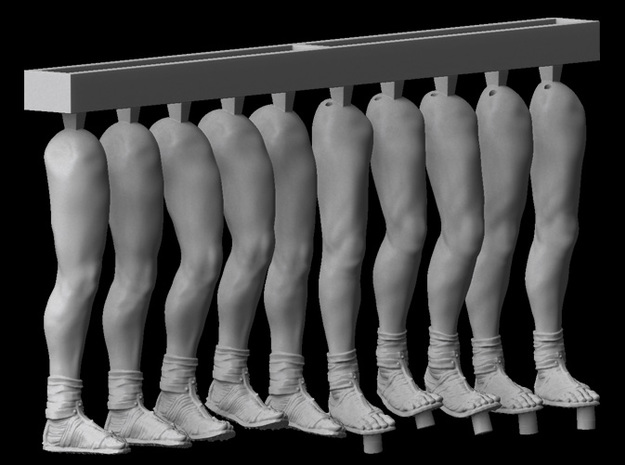 1/25 scale Roman Legionary legs (5 sets) in Smooth Fine Detail Plastic