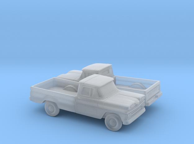 1/160 2X 1961 Chevrolet C-10 Fleetside Small Rear  in Smooth Fine Detail Plastic
