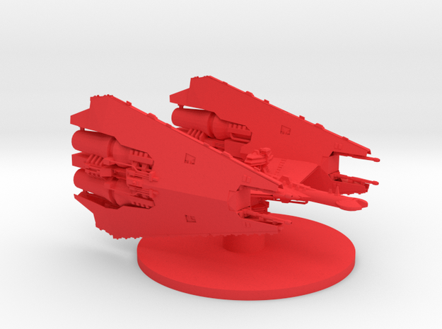 Narn - T'Loth Carrier in Red Processed Versatile Plastic