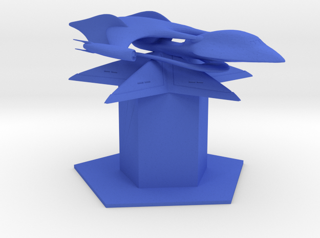 ISA - Bluestar (2 x / 1.39 y / 1.208 z) in Blue Processed Versatile Plastic
