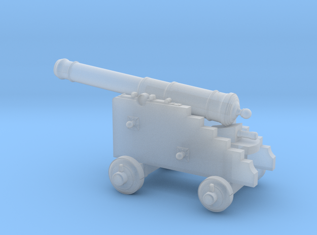 18th Century 6# Cannon-Naval Carriage 1/56 in Smoothest Fine Detail Plastic