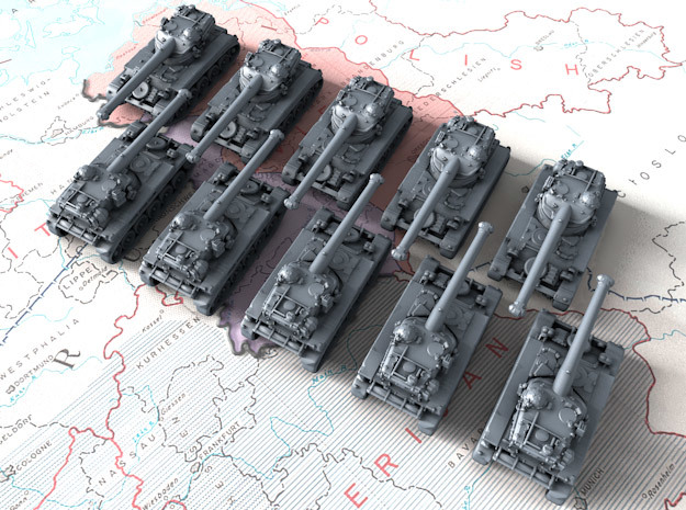 1/700 French AMX 13 90 Light Tank x10 in Smoothest Fine Detail Plastic