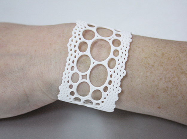 lace cuff in White Processed Versatile Plastic