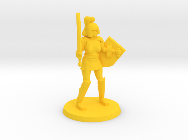 Istrid the Crusader in Yellow Processed Versatile Plastic
