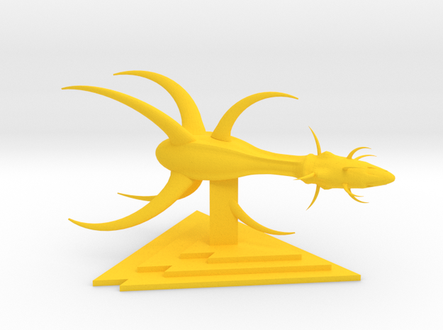 Drakh - Advanced Fighter in Yellow Strong & Flexible Polished