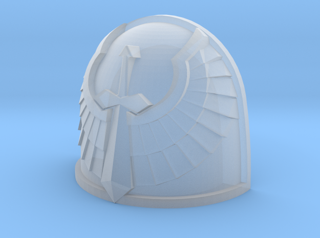 M4 Basic Shoulder Pad - Angel Sword design in Frosted Ultra Detail: Small