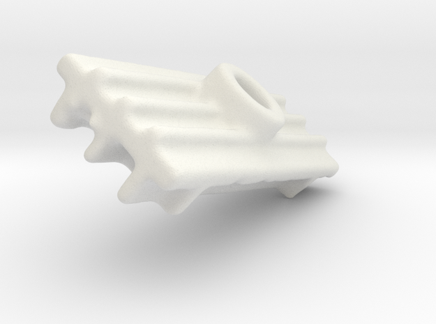 D-BRACKET in White Natural Versatile Plastic