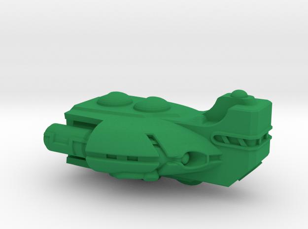 "Space Frigate ""Barnstaple"" (OEM Class) in Green Processed Versatile Plastic"