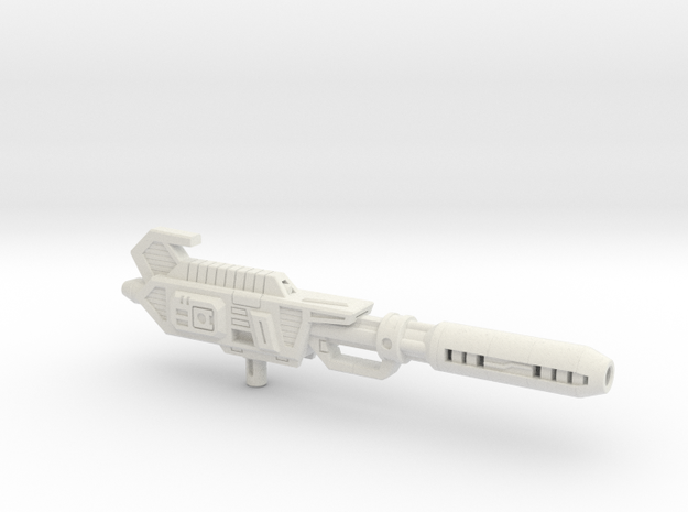 Space Bus G1 Toy Blaster in White Natural Versatile Plastic