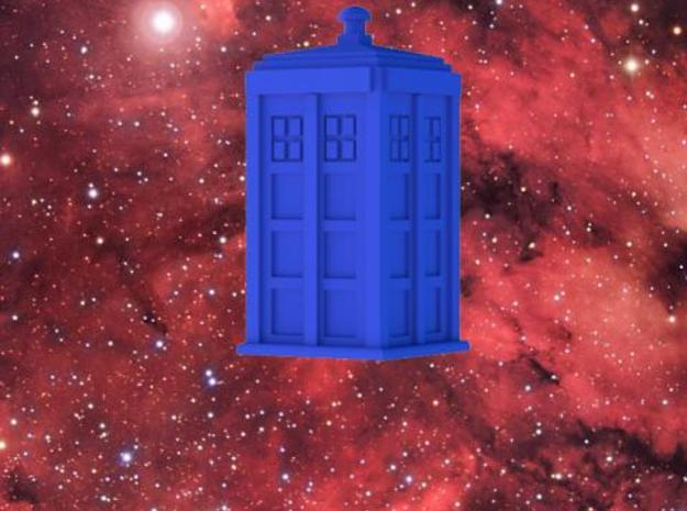 TARDIS (simple) 3d printed TARDIS in a starfield