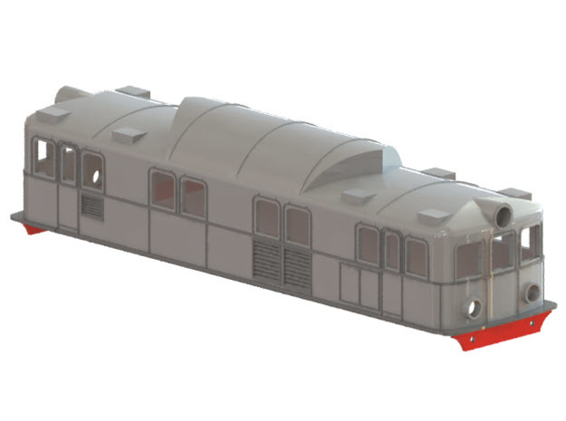 Swedish SJ electric locomotive type Pa - H0-scale in White Strong & Flexible