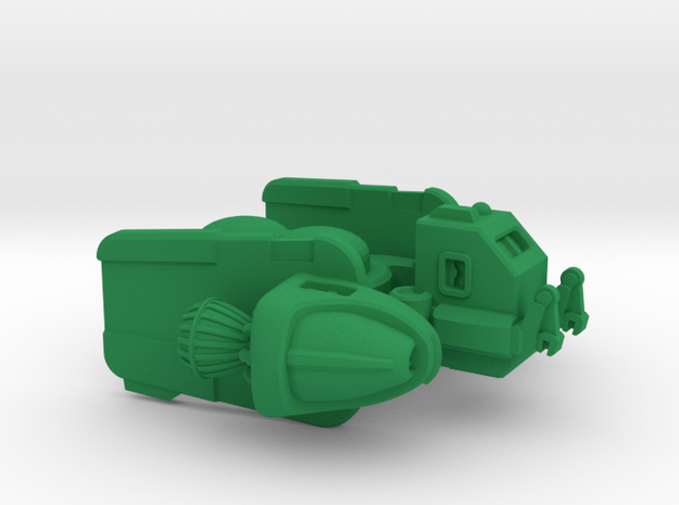 """Space Utility Frigate """"Lysosome"""" (Cargo tug Class) in Green Processed Versatile Plastic"""