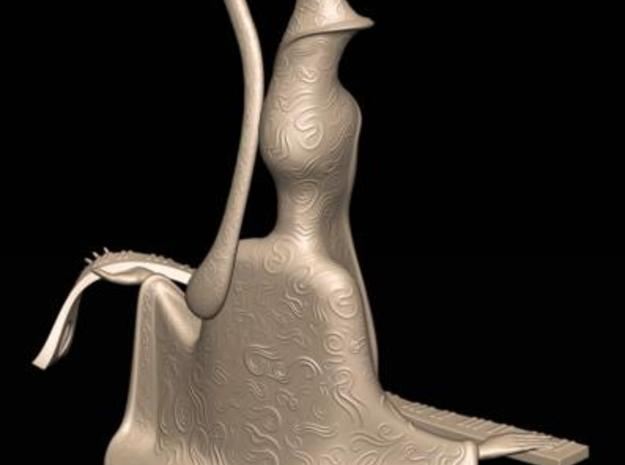 Harmony Sculpture 3d printed Rear view One