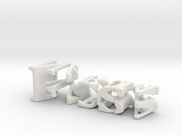 3dWordFlip: Ross/Nardia in White Natural Versatile Plastic